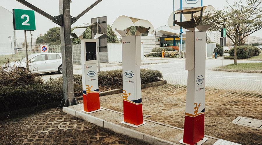 Colonnine ricarica veicoli elettrici utilizzate da Roche